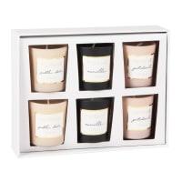 Set 6 portacandele con candele profumati in vetro