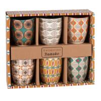 BAMAKO - Set 6 tazze multicolore in maiolica