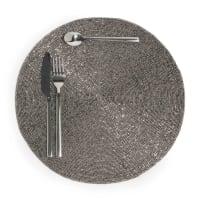 Set da tavola rotondo color argento D 33 cm Perle