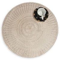 CÉLESTE - Lot de 2 - Set de table ajouré doré D 41 cm