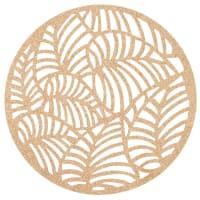 PRISCA - Lot de 2 - Set de table ajouré motifs feuilles dorées