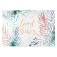 Set de table blanc imprimé multicolore Good Vibes