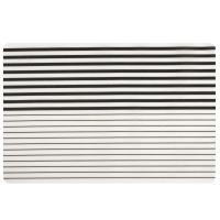 NOVELLA - Lot de 4 - Set de table noir et blanc motifs à rayures