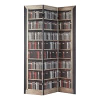 printed wood folding screen W 120cm Shakespeare