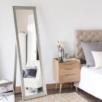 Silver Paulownia Mirror 50x170 Valentine