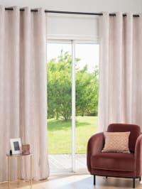 EDMUND - Single jacquard weave curtain with beige print Eyelet Curtain 140x250cm