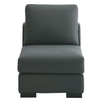 Sitzelement aus Baumwolle, B 64cm, schiefergrau Terence