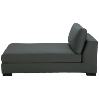 Slate Grey Cotton Modular Chaise Longue Terence