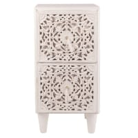 Small carved 2-drawer storage unit Madang