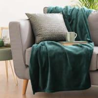 ELISE  - Smaragdgrünes Plaid 130x180