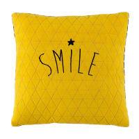 yellow/grey cushion 40 x 40 cm Smile