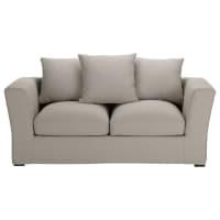 Sofa 2/3-Sitzer nicht ausziehbar, Baumwolle hellgrau - Bruxelles Bruxelles