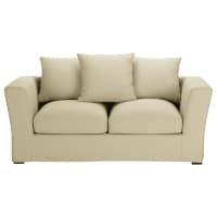 Sofa 2/3-Sitzer nicht ausziehbar, Baumwolle kittfarben - Bruxelles Bruxelles