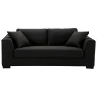 Sofa 2/3-Sitzer nicht ausziehbar, Baumwolle schwarz - Terence Terence