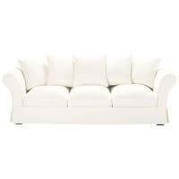 Sofa 4-/5-Sitzer aus Baumwolle, elfenbein Roma