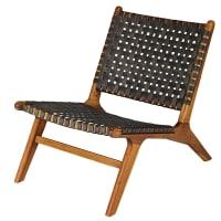 NAIROBI - Solid Acacia and Resin Wicker Garden Armchair