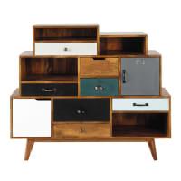 Solid mango wood vintage cabinet W 125cm Picadilly