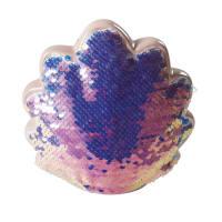 Spaarpot schelp met meerkleurige lovertjes Mermaid