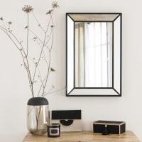 Specchio con doppia cornice nero, 40x60 cm Isabel