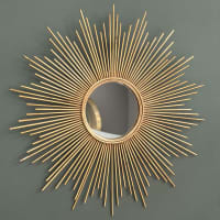 Specchio dorato in metallo 99 cm Magellan