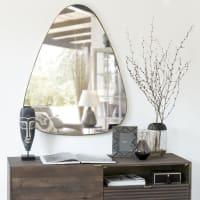 Specchio in metallo dorato, 80x101 cm Shelby