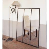 Specchio in metallo effetto anticato 95x120 Cargo
