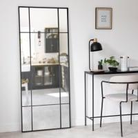 OKLAHOMA - Specchio in metallo nero 70x170 cm