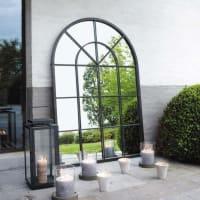 Specchio nero in metallo 92 x 135 cm Orangerie