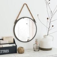Specchio rotondo in metallo, 30 cm Blake