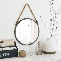 Specchio rotondo in metallo, d. 30 cm Blake