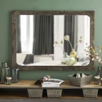 Specchio rotondo in metallo effetto anticato, 110x80 cm Alvin