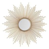 Spiegel aus Metall, golden, D.99 Magellan