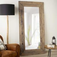 Spiegel in gerecycleerde teak 100x200 Woody
