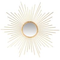 MARY - Spiegel in Sonnenform aus goldfarbenem Metall, D50cm