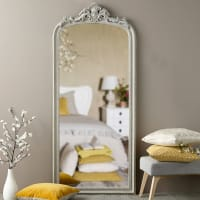 Spiegel met grijze sierlijst 78x181 Jeanne