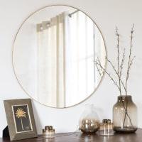 Spiegel met metalen lijst goudkleurig D75 Kenya