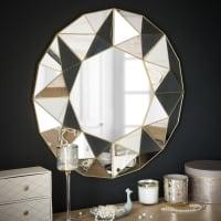 FIORENZA - Spiegel mit geometrischen Reliefmotiven D60