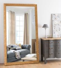 VALENTINE - Spiegel mit geschnitztem Rahmen, goldfarben 120x210