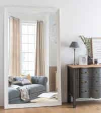 VALENTINE - Spiegel mit geschnitztem Rahmen, weiß 120x210
