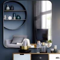 Spiegel mit goldfarbenem Metallrahmen, 110x110 Brooke