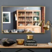 Spiegel mit goldfarbenem Metallrahmen, 75x120 Madurai