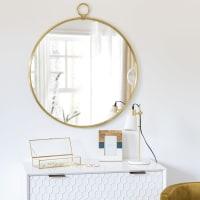 Spiegel mit goldfarbenem Metallrahmen 80x89 Pasadena