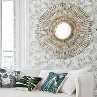 Spiegel mit Rahmen aus gedrehtem goldfarbenem Draht 131x129 Zagra