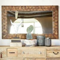 Spiegel van uitgehouwen mangohout 80x133 Kisangani