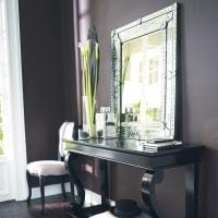 Spiegel  aus Glas, H 90cm Vénitien