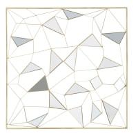 Spiegel-Wanddeko, goldfarbenes Metall, 98x98 Clayton