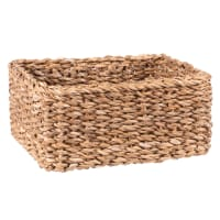 Square plant fibre basket 22x22cm