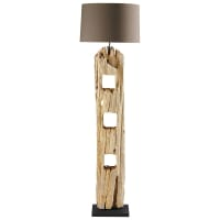 Staande lamp in hout H 170 cm Alpages