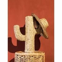 Statue cactus en fibre végétale H55 Molly