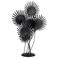 Statue palmiers en métal noir H51